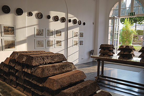 Installation view of soil erg, 2012. Ottoneum, dOCUMENTA XIII, Kassel, Germany. Photo  courtesy of the artist.