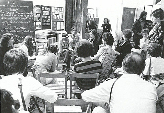 Workshop space of the FIU during documenta 6, 1977. © documenta Archiv / Joachim Scherzer
