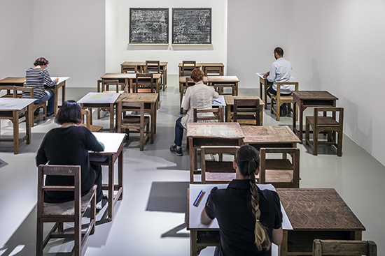 History Class II and Blackboard Drawing I & II, 2014, at ARTER, Istanbul (Photo: Murat Germen)