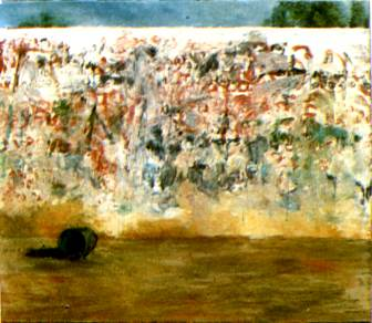 "Chandraguptha Thenuwara: ""Mirror Wall"", oil on canvas, 159,5 x 140,3 cm, 1992"
